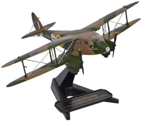 Oxford Diecast DH Dragon Rapide RAF Air Ambulance 1:72 Model Aircraft