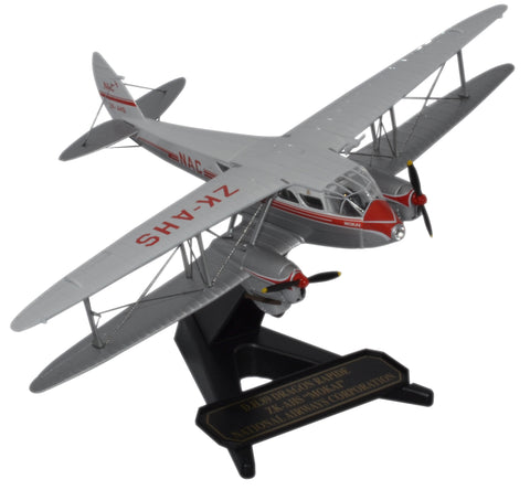 Oxford Diecast DH Dragon Rapide ZK-AHS -Mokai- NAC 1:72 Model Aircraft