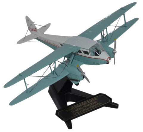 Oxford Diecast Dragon Rapide  Scillonia Airways 1:72 Model Aircraft