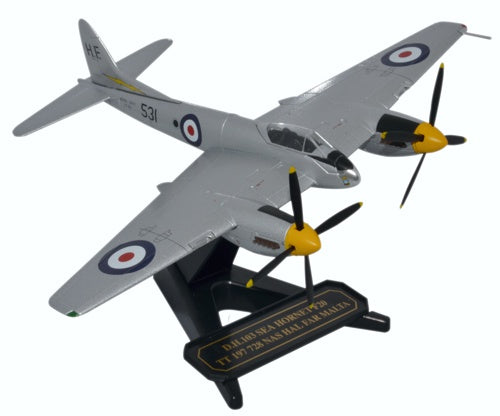 Oxford Diecast Sea Hornet 728 Squadron Malta 1953 1:72 Model Aircraft