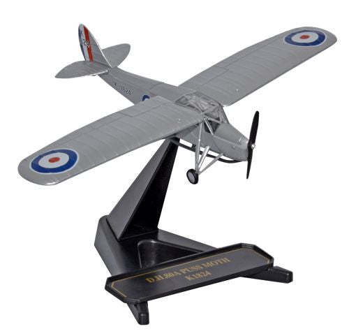 Oxford Diecast RAF Trainer 1941 K1824 Puss Moth 1:72 Model Aircraft