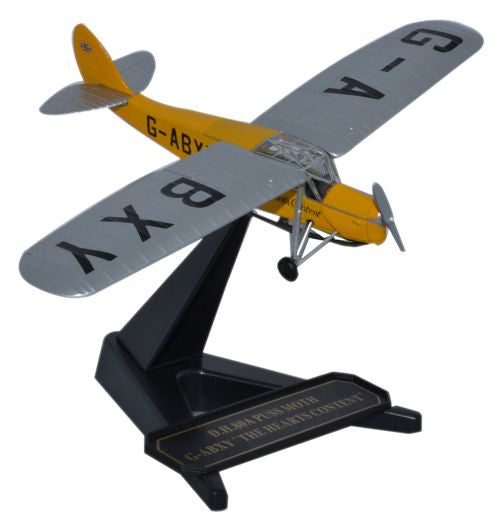 Oxford Diecast DH Puss Moth The Hearts Content 1:72 Model Aircraft