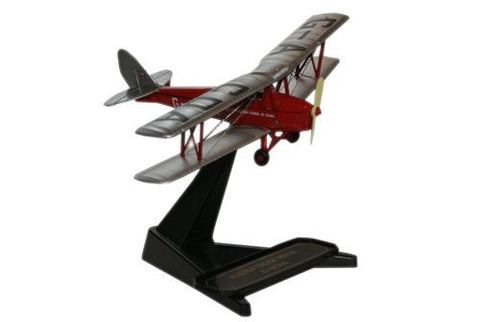 Oxford Diecast De Havilland Flying Club Tiger Moth 1:72 Model Aircraft