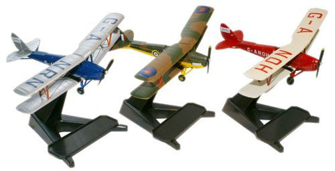 Oxford Diecast Glasmoth Tiger Moth Set of 3 1:72 Model Aircraft
