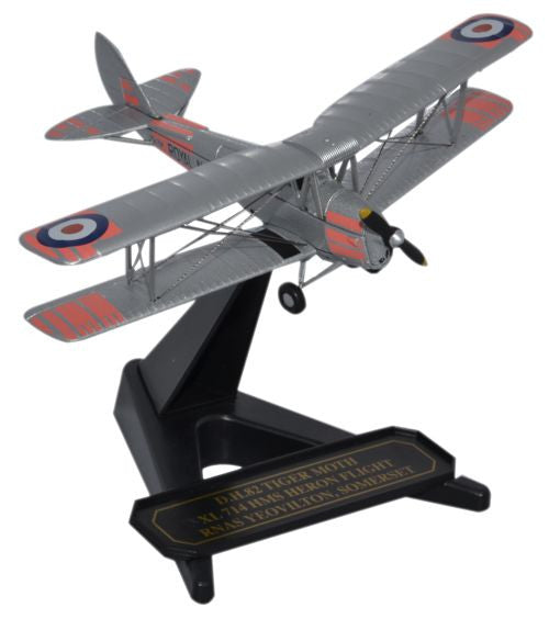 Oxford Diecast DH Tiger Moth 714 HMS Heron Flight 1:72 Model Aircraft
