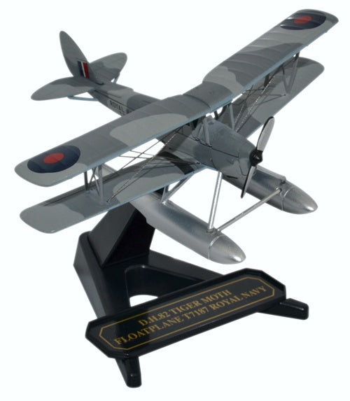 Oxford Diecast DH Tiger Moth Floatplane Royal Navy 1:72 Model Aircraft