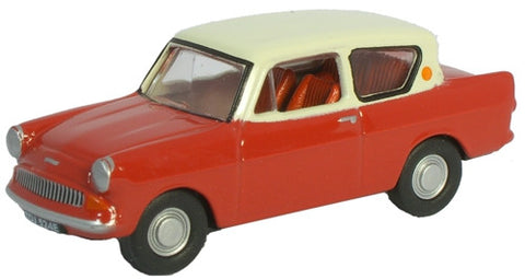Oxford Diecast Anglia Maroon - Cream Roof - 1:76 Scale