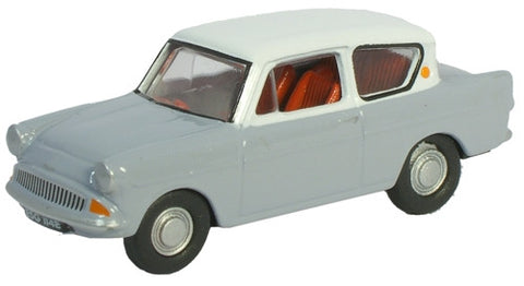 Oxford Diecast Anglia Grey  White Roof - 1:76 Scale