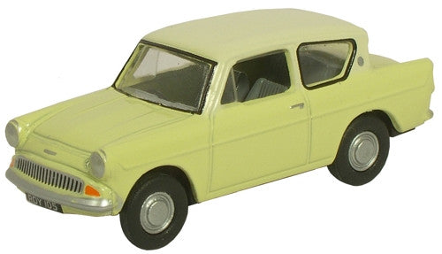 Oxford Diecast Sunburst Yellow/ White Anglia - 1:76 Scale