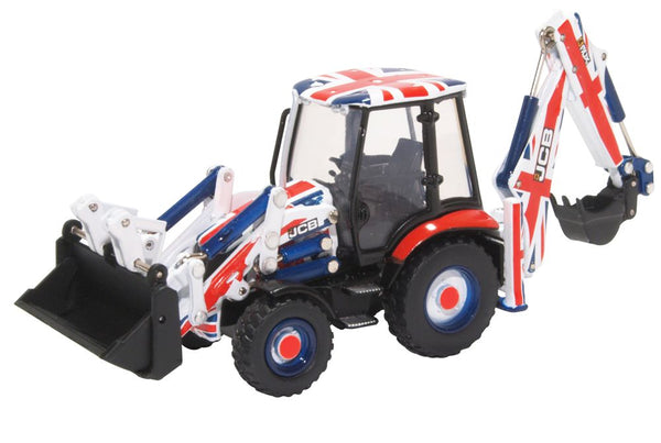 Oxford Diecast JCB 3CX Eco Backhoe Loader Union Jack Livery