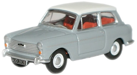 Oxford Diecast Grey/ White Austin A40 MkII - 1:76 Scale