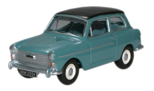 Oxford Diecast Austin A40 MkII Horizon Blue Black - 1:76 Scale