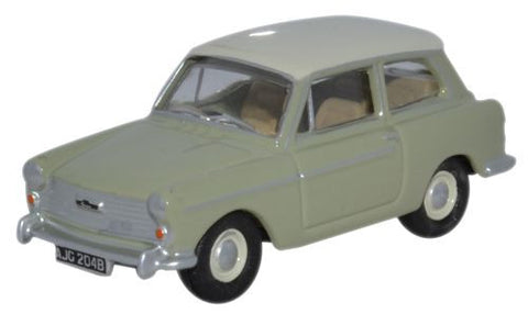 Oxford Diecast Austin A40 MkII Glen Green - Snowberry White - 1:76 Sca