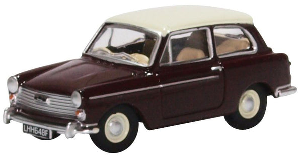 Oxford Diecast Austin A40 MKII Maroon Black  & Snowberry White