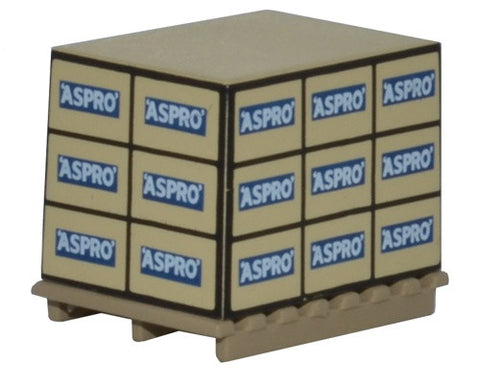 Oxford Diecast Pallet/loads Aspro * 4