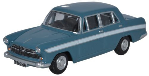 Oxford Diecast Austin Cambridge Persian Blue and White - 1:76 Scale