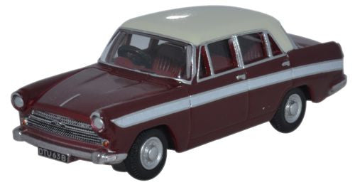 Oxford Diecast Austin Cambridge A60 Farina Maroon B - Snowberry White