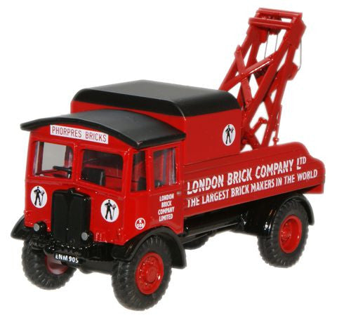 Oxford Diecast London Brick AEC Matador Wrecker - 1:76 Scale