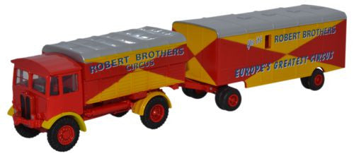 Oxford Diecast AEC Matador and Trailer Robert Brothers - 1:76 Scale