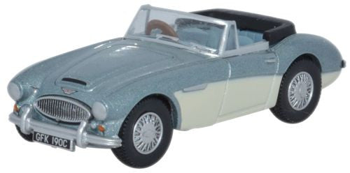 Oxford Diecast Austin Healey 3000  Blue_Ivory - 1:76 Scale