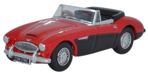 Oxford Diecast Austin-Healey 3000 Colorado Red_Black - 1:76 Scale