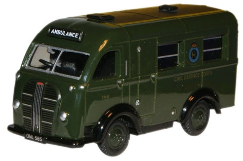 Oxford Diecast Civil Defence Austin Welfarer Ambulance - 1:76 Scale