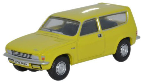 Oxford Diecast Citron Yellow Austin Allegro Estate - 1:76 Scale