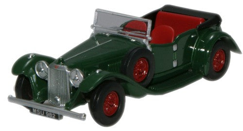 Oxford Diecast British Racing Green Alvis Speed Twenty Cross & Ellis -