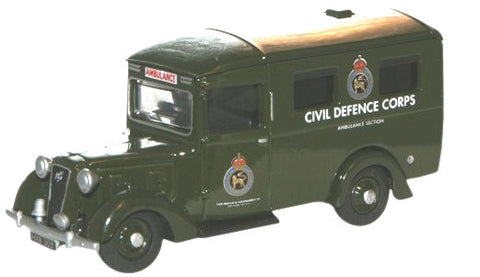 Oxford Diecast Austin 18 Ambulance Civil Defence - 1:76 Scale