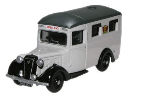 Oxford Diecast Austin 18 Ambulance Carlisle - 1:76 Scale