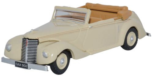 Oxford Diecast Beige Armstrong Siddeley Hurricane Open - 1:76 Scale