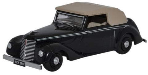 Oxford Diecast Black Armstrong Siddeley Hurricane - 1:76 Scale