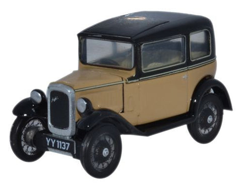 Oxford Diecast Austin Seven RN Saloon Fawn - 1:76 Scale