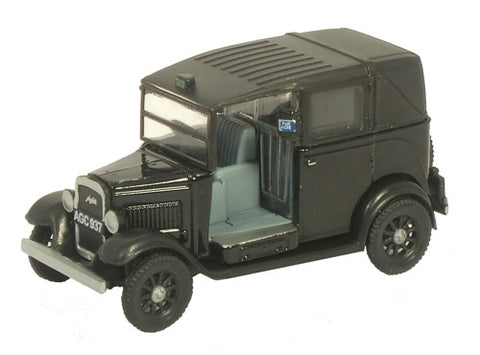 Oxford Diecast Austin Taxi Black - 1:76 Scale