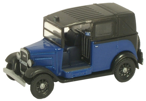 Oxford Diecast Austin Taxi Oxford Blue - 1:76 Scale