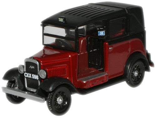 Oxford Diecast Burgundy Austin Low Loader - 1:76 Scale
