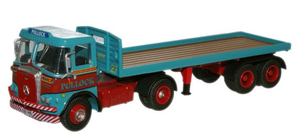 Oxford Diecast Pollock Atkinson Borderer Flatbed Trailer - 1:76 Scale