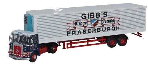 Oxford Diecast Atkinson Borderer 40ft Fridge Trailer Gibbs of Fraserbu