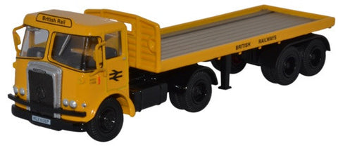 Oxford Diecast Atkinson Borderer Flatbed Trailer British Rail
