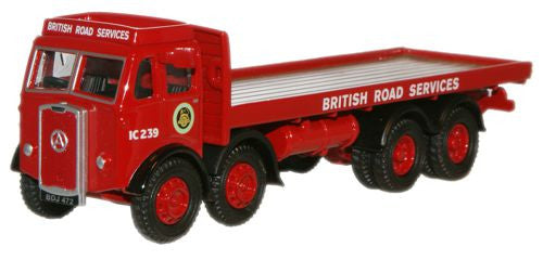 Oxford Diecast BRS Atkinson 8 Wheel Flatbed Lorry - 1:76 Scale