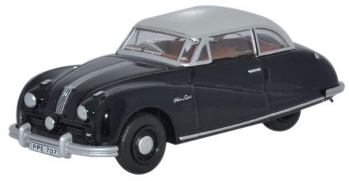 Oxford Diecast Austin Atlantic Saloon Black/Grey (Gaydon) - 1:76 Scale