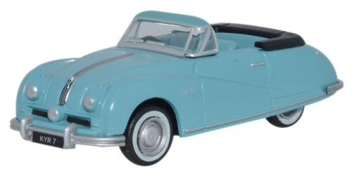 Oxford Diecast Austin Atlantic Convertible Ming Blue - 1:76 Scale