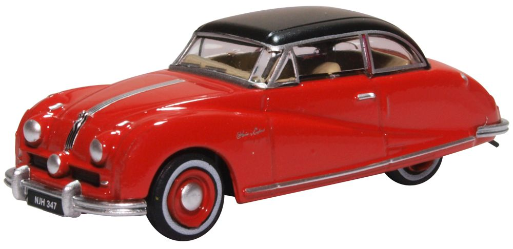 Oxford Diecast 1 76 Scale Austin Atlantic Saloon Ensign Red