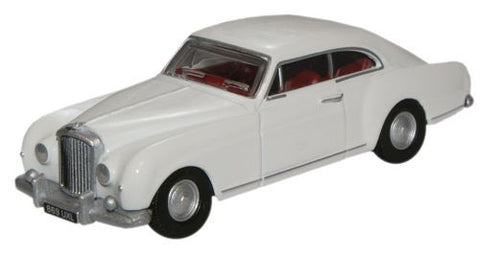 Oxford Diecast Olympic White Bentley S1 Continental Fastback - 1:76 Sc