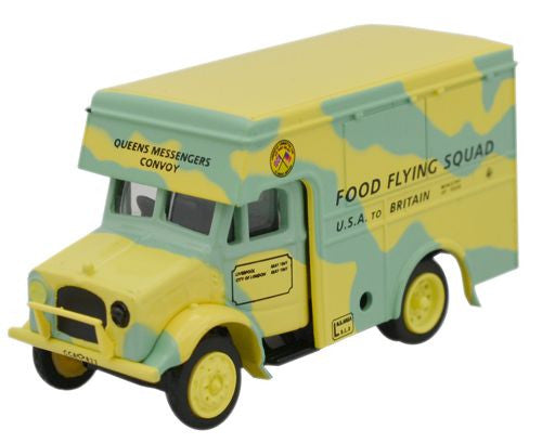 Oxford Diecast Food Flying Squad Bedford OX 30cwt Van - 1:76 Scale