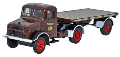 Oxford Diecast GWR Bedford OX Flatbed Trailer - 1:76 Scale