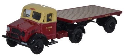 Oxford Diecast Bedford OX Flatbed Trailer British Rail - 1:76 Scale