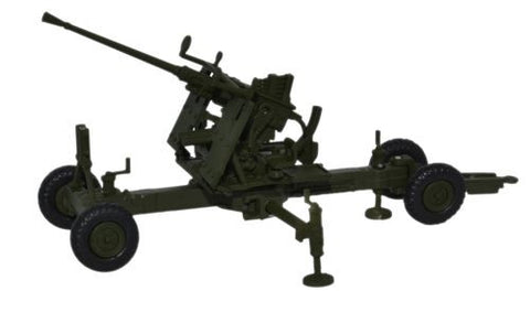 Oxford Diecast Olive Drab 40MM Bofors Gun - 1:76 Scale