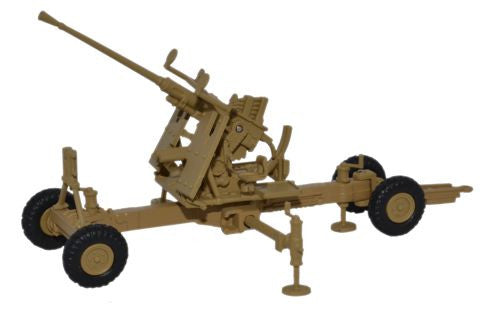 Oxford Diecast Desert Light Stone 40MM Bofors Gun - 1:76 Scale