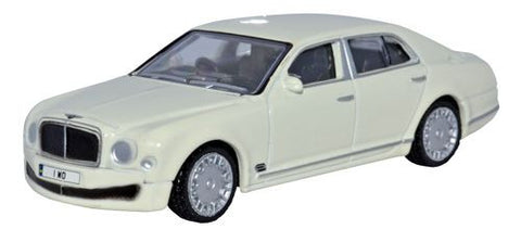 Oxford Diecast Bentley Mulsanne White - 1:76 Scale